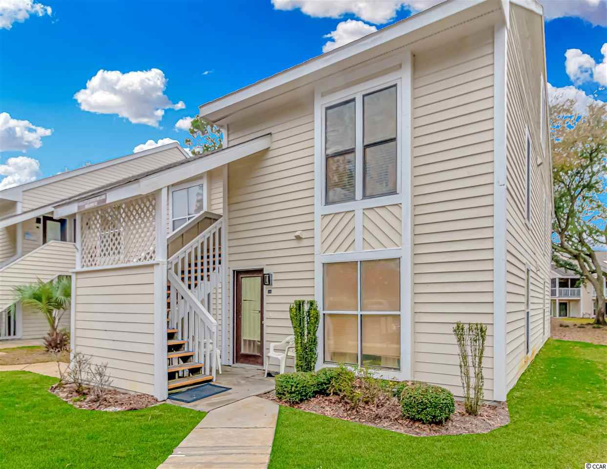 This unit located in the Little River Inn subdivision has it all. The unit is on the second story of this complex and is a two story condo. Up the stairwell, your meant with a freshly painted front door and a nice, sturdy storm door addition. In the unit the stairs are located by the front door, to the left is the main hallway. All new tile floors through out the first floor. The main floor has a full bathroom with shower/tub combo, newly renovated with fresh paint. Next to the bathroom is the first floor bedroom, that comfortably fits a queen bed, new window treatments and fresh paint. Down the hallway further to the rear of the unit is the updated kitchen, granite counter tops and new appliances with a three year warranty. The Kitchen has two pantries, garbage disposal, and a breakfast bar. Right off the kitchen/dinning space combo is the living room. The living room has high vaulted ceilings with skylights making the area seem bright and open concept. Off the living room is a large walk in storage closet and a 3 season room that is enclosed with new glass window. This balcony has the potential to be heated and cooled, with a tile floor as well. The washer/dryer stackable unit would be sold with the property. It is enclosed in a closet on the main floor of the unit. Up the newly carpeted stairs is a upgraded second bathroom with a stand up shower, another large storage space and a closet. The second bedroom is a loft, and can double as an office/second living space. All carpeting throughout the second floor. This unit is located just before the North Myrtle Beach/Cherry Grove Bridge and is perfectly located new the Beaches, restaurants and shopping. The subdivision also has a pool with a hot tub and tennis court, everything at your convenience.