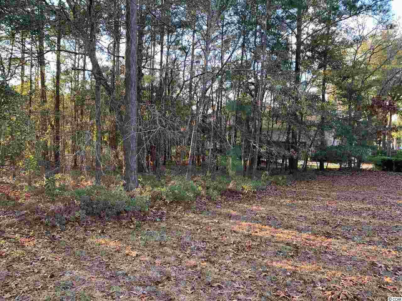 Beautiful lot in Huntington Mews section of The Reserve.  Wonderful trees and tranquil view of lake and fountain.  The Reserve is a gated community with amenities and direct private access to the beach through Litchfield by the Sea.  Short golf cart ride to the beach!  Special spot to build the perfect home.