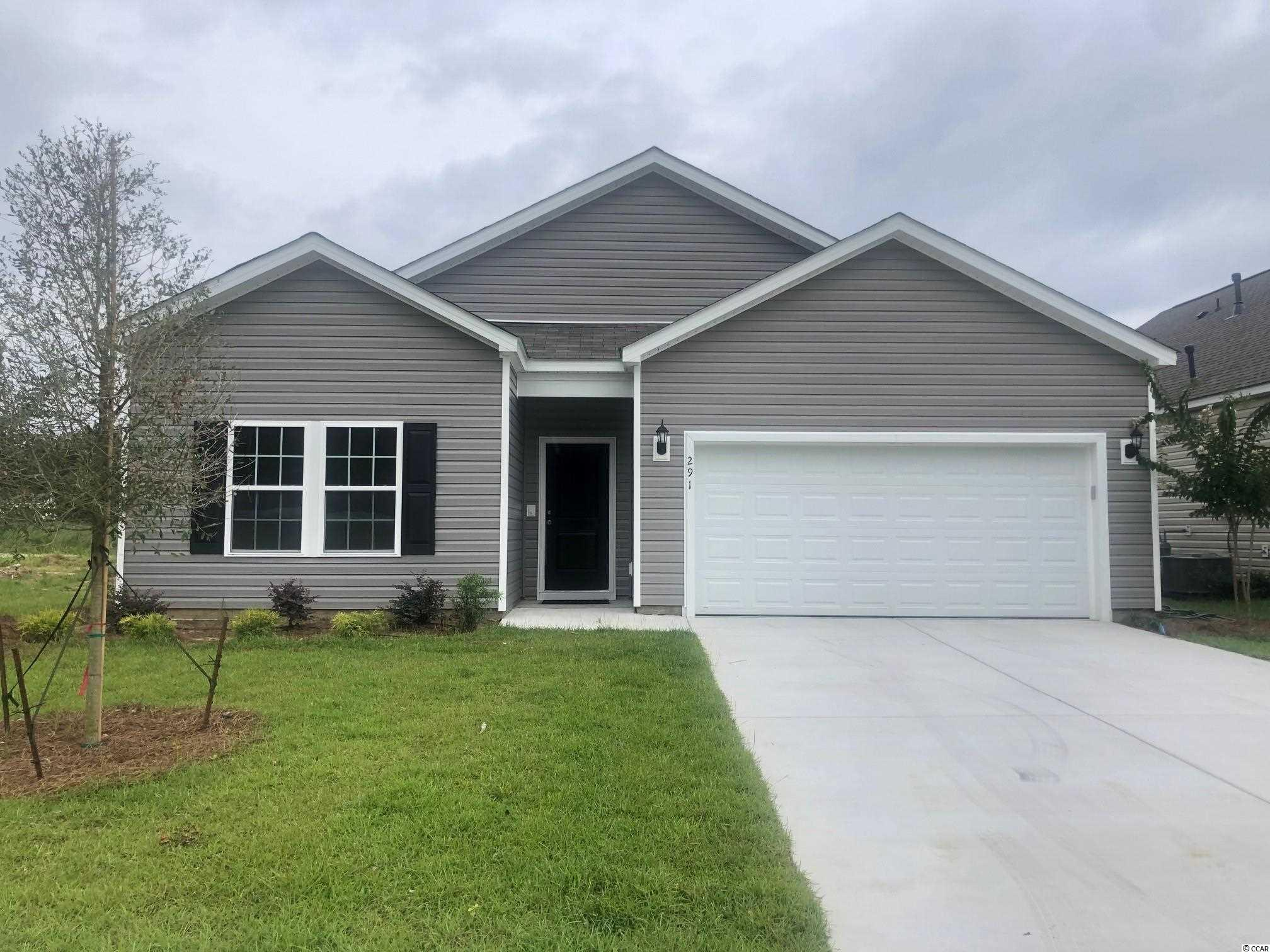 This home is sold, can build similar. Stop by our Sales Center for details.  Hampton Park is a natural Gas Community located on 707 near 544. Easy access to 31 as well! Great location! We are located minutes from beaches, shopping, golf, restaurants, medical facilities and more. This is a small 80 home community that will feature lots that view the pond, as well as backyards that have wooded views. Sidewalks and pool.  *Photos are of model home and do not reflect color selections and options of actual unit for sale.*