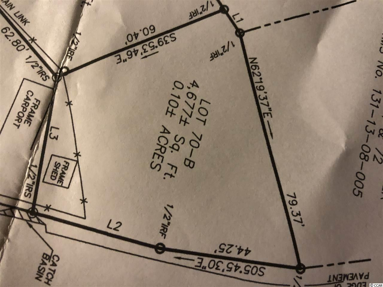 Nice, cleared lot in the Grove in X flood zone for Single wide, Doublewide, Modular or Stick built. Tap fees are not paid. ALL MEASUREMENTS AND SQ. FOOTAGE ARE APPROXIMATE. BUYER IS RESPONSIBLE FOR VERIFICATION.  Golf cart ride to the beach, marinas, entertainment, dining, golf, restaurants.  Close to medical, schools, sports complex, and everything the Grand Strand offers!