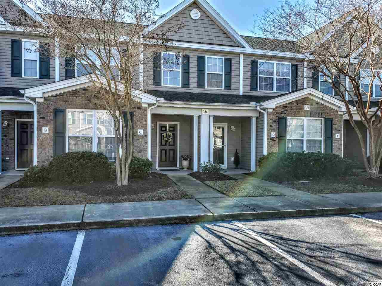 Peaceful and serene townhome in the sought-after neighborhood of Park West in Murrells Inlet. This townhome style condo isn't missing a thing! Lots of natural light and fully updated! Open concept kitchen and living area with two-story vaulted ceilings. Updated kitchen with granite countertops, stainless appliances and updated lighting. The pantry closet provides lots of extra kitchen storage. The first floor master bedroom has a walk-in closet and private bath with a large walk-in shower. The first floor also includes a powder room, hall closet and laundry facilities. The washer/dryer and refrigerator are included! The first floor flooring has been updated with easy-care laminate. The second floor includes a good size guest bedroom, a full bathroom and a loft, which can be used as a second living area,  additional sleeping, or office space. The HVAC unit has been recently replaced, and the air handler is easily accessed in the back closet upstairs. The back screen porch is a perfect place to relax for morning coffee or an evening glass of wine - with the calming sounds of the nearby pond fountain. The buildings in this complex are very well-maintained by the HOA, as is the landscaping. The roof was just replaced in 2020. This condo is just a short walk to the large neighborhood pool and hot tub. Park West is located in Murrells Inlet, just a short distance to the famous Marshwalk, and close to shopping and Brookgreen Gardens and of course, the beach! Come see this creampuff for yourself! Square footage is approximate and not guaranteed, Buyer is responsible for verification.