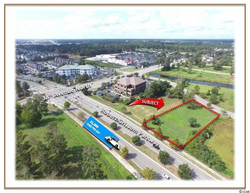 OFFERED FOR SALE: Fully Engineered and Development Ready Lot with 110' of frontage on Robert Grissom Parkway in Myrtle Beach, SC. This location is ideal for a future medical or professional office. Easily accessible via Highway 17 Bypass, 38th Ave N, Robert Grissom Parkway and US-31.   Approximately 0.56 Acres. Located Inside City Limits of Myrtle Beach, SC. Approximately 110' Frontage on Robert Grissom Parkway. Approximately 117' Frontage on Mayfair St. Approximately 254' Depth. Identified as TMS# 1730806004 and PIN# 42014040010, County of Horry, SC. Average Daily Traffic Count: 21,200 (Source: SCDOT 2019) Fully Engineered and Development Ready. Land is Cleared with Infrastructure in Place. Underground Utilities. Curb Cuts onto Mayfair Street. Excellent location for a future medical or professional office.