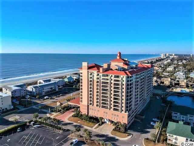 Rare opportunity to own corner unit with panoramic ocean views in Tilghman Beach and Golf Resort, a premier luxury high-rise resort in North Myrtle Beach. Property features three balconies and breath-taking views of the ocean, beach and shoreline facing south to Myrtle Beach. The spacious floor plan features a defined entry, large bedrooms and baths, sliding glass balcony doors in every room and an extra-wide, ceiling to floor window in the living room. Perfect for residential use at the beach, family vacations or investment/rental income. The building is renowned for it's indoor and outdoor amenities including a lazy river, indoor & outdoor pools, hot tub, sauna, fitness room, sunning deck, onsite family entertainment and more! Located directly in front of a City automated crosswalk and entrance to the beach which is just steps away.