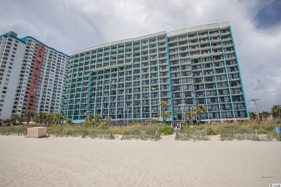 NEW flooring and just wow as oceanfront One bedroom condo.  Plus one and half bathrooms.   Come enjoy the ocean and Myrtle Beach with this jewel of a condo!  Landmark has lots of amenities to enjoy and parking deck.