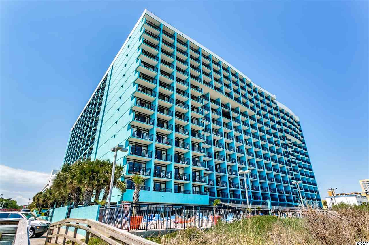 Enjoy great ocean front views from this great 1 bedroom / 1.5 bath condo priced to sell at desirable Landmark Resort! Enjoy this convenient location, close to pools, amenities, restaurant, beach access and more! Don't delay!