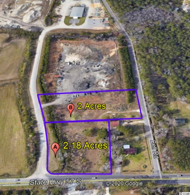 2.18 Acres of Heavy Industrial Land with 270' of frontage on Highway 57. Water & Sewer available from Bell Road. Just a little over 2 miles from Hwy 31 & Robert Edge Pkwy offers convenient access to the entire Grand Strand. Flexible HI, Wampee Industrial PDD zoning by Horry County allows for a wide range of industrial uses. Two acre contiguous parcel also available.