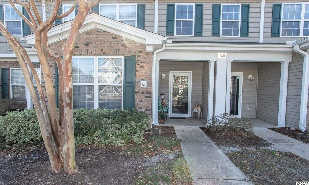 Charming 2BR-2.5BA townhome in the Park West Community of Murrells Inlet. Carefree living as the lawn maintenance is included in the monthly HOA. The floor plan is bright and airy with a high ceiling in the living room and plenty of windows. Very well maintained and move-in ready. The Master bedroom and bath are located on the first floor and a half bath, upstairs there is a loft and the second full bath & bedroom. New carpet in living room and master bedroom. The rear screened porch is a perfect spot to relax with a view of a pond & fountain. Park West is just a short distance to the Marshwalk, and close to shopping, restaurants, medical services and Brookgreen Gardens and of course, the beach!