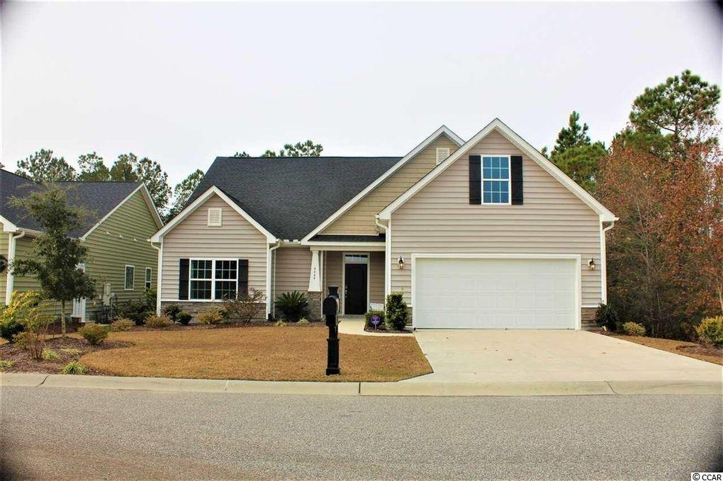 Beautiful 5 bedroom, 3 bathroom home located in the sought after Carolina Forest area / Clearpond subdivision.  This designer model smart home features 2 floors of living spaces, with entire the main living floor encapsulated in wood-like porcelain tile.  First floor consist of foyer entry, spacious great room with open concept kitchen that has granite counters, breakfast island with a  large pantry. High end cabinetry surround stainless steel appliances, wall microwave/wall oven combination and a gorgeous chefs (gas) stove below a designer hood vent. A breakfast nook completes the gourmet kitchen space. The master bedroom has a generous 13'10 x 18' rectangular floorplan, complimented with a tray ceiling and ceiling fan. The en suite master bath has a garden tub,  separate tiled shower, dual sink vanity, linen closet and enormous walk-in master closet. Two additional 1st floor bedroom's with separate full bath complete the main floor living area. Up the hardwood stairs leads to two additional spacious bedrooms both with great closet space, plus a large bonus room in-between perfect for a 2nd family area. Bedrooms and bonus are are all carpeted. Enjoy sunsets or nature's scenery with the large covered/enclosed patio, overlooking the 37+ acre nature preserve. Laundry is on the 1st floor for full size washer/dryers hookups and additional storage space, before you enter/exit to the slightly oversized 2 car garage.  This elegant smart home includes internet hookups in every bedroom room/bonus room for tv or computer/laptop needs.  Smart thermostats and security cameras prewired and installed.  Pets will be considered on a case by case basis. Trash pickup is included in the rent. All utilities are tenant(s) responsibility (gas/electric/water/sewer/cable/internet/security, lawn maintenance)