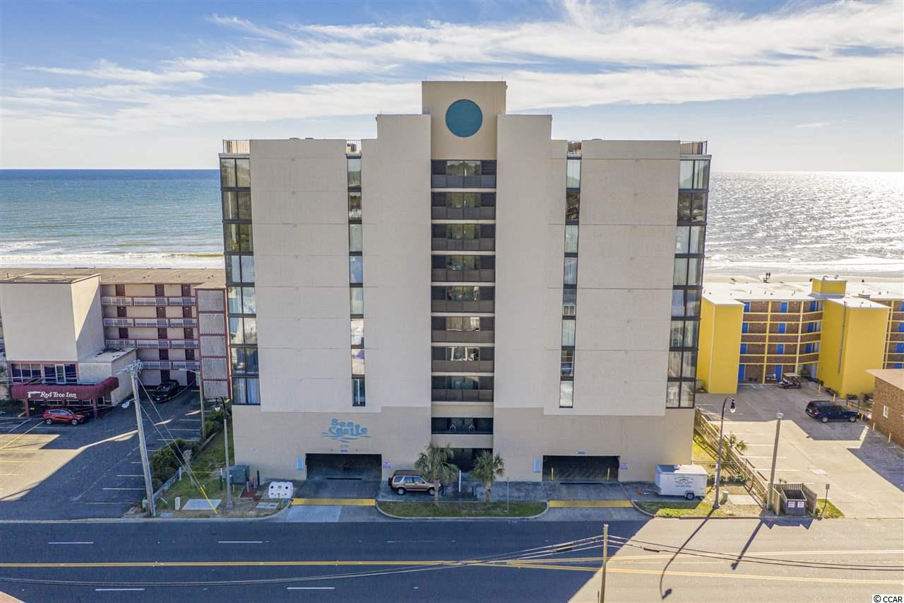 Don't miss this 3 bedroom 2 bath, direct Oceanfront condo.  Fabulous views of the southern coastline and sunsets!  This unit is being sold furnished.  Spacious Oceanfront balcony, directly off of the Living/ Dining area and a view of the Ocean from the kitchen.  The complex boasts an 8 story Atrium in the middle of the building, which is unique for owner / guest's use. Other amenities include a hot tub, oceanfront pool, kiddie pool and grilling area.