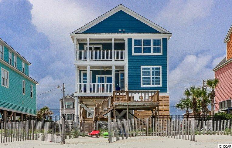 Welcome to Dancing Waves, located just 0.6 miles south of the Garden City Pier, making this home an ideal location for the perfect beach vacation.  Enjoy inlet, marsh, beach and ocean views from this home. Currently used as a vacation rental.  Completely renovated inside and out in 2017 - new roof, siding, HVAC, kitchen, paint, flooring, furniture, pool, stone paver decking, and more.  Kitchen features stainless steel appliances, granite counters, tile backsplash, and breakfast bar. Large oceanfront master suite with double granite vanity, Jacuzzi tub, and tiled shower.  Exterior features:  3-covered porches, private pool, stone paver patio, parking for at least 6-vehicles.  Some additional features include: full size laundry room, concrete fiber siding, crown molding throughout. Offered fully furnished, rental ready. Great rental income producer!  Subject to the SC Vacation Rental Act.
