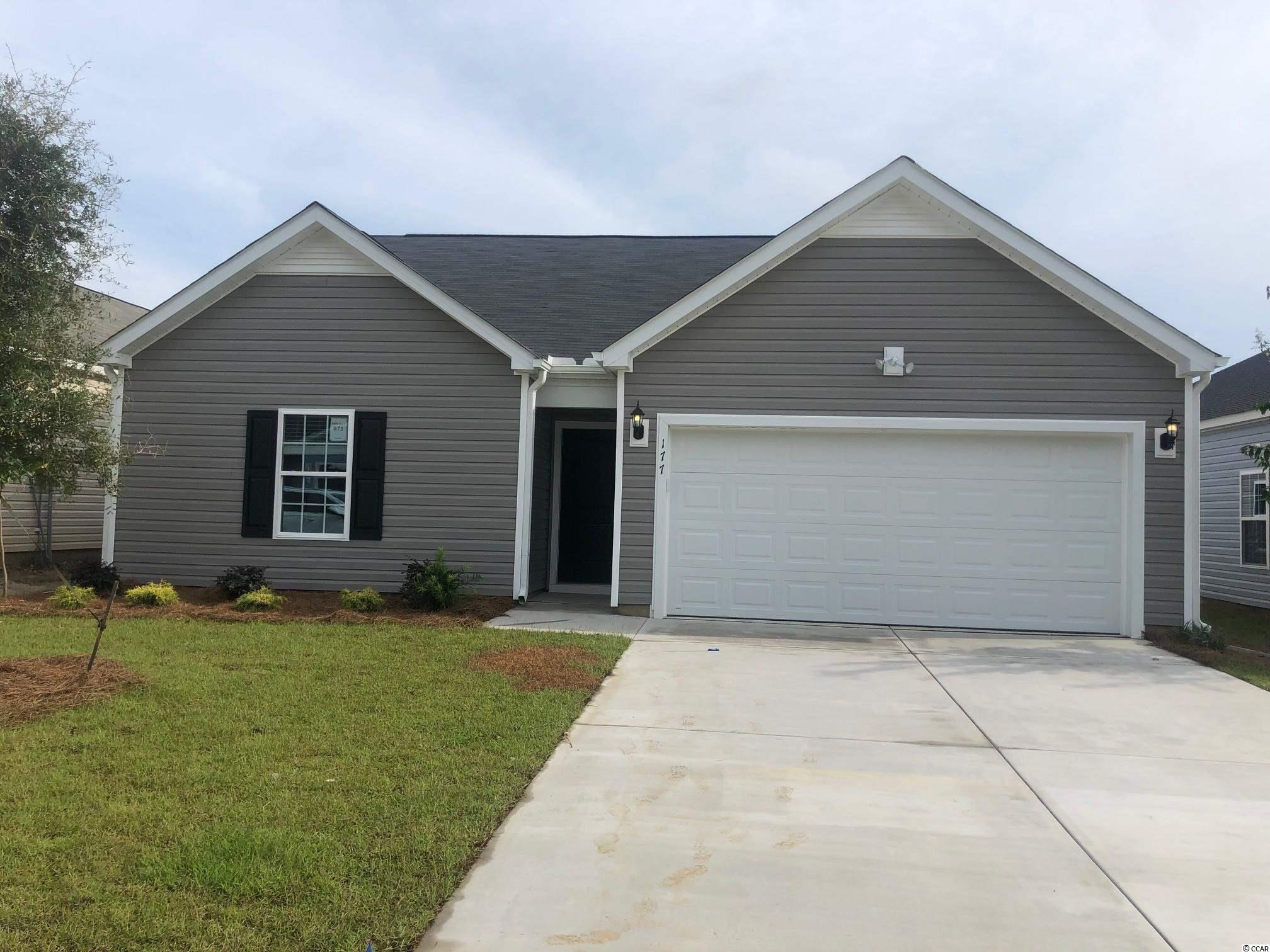 This is a SOLD TBB home.  Stop by Sales Center for details on building a similar home.   Hampton Park is a natural Gas Community located on 707 near 544. Easy access to 31, fantastic location! We are located minutes from beaches, shopping, golf, restaurants, medical facilities and more. This is a small 80 home community that will feature lots that view the pond, as well as backyards that have wooded views; a pool and sidewalks. *Photos are of model home and do not reflect color selections and options of actual unit for sale.*