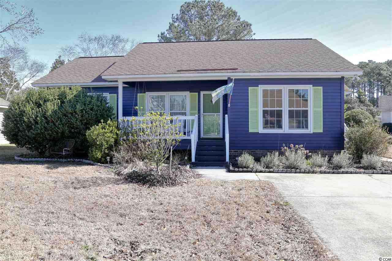 One of the few active retirement communities in Murrells Inlet with wonderful amenities, tucked away from the hustle and bustle, yet can golf cart to the Beach and restaurants.  Charming patio home featuring a split floorplan, relaxing front porch and a cozy screened porch.  This home is furnished, has new waterproof flooring throughout, newer HVAC (2018/2020) and sits along one of the many retention ponds in the neighborhood with wonderful views of wildlife.  A large Carolina room adds extra living space while providing additional sunlight with its abundance of windows .  And what's not to love about the Olympic size pool, indoor banquet space, library and fitness area at the community center?  Great for socialization and meeting new neighbors!!