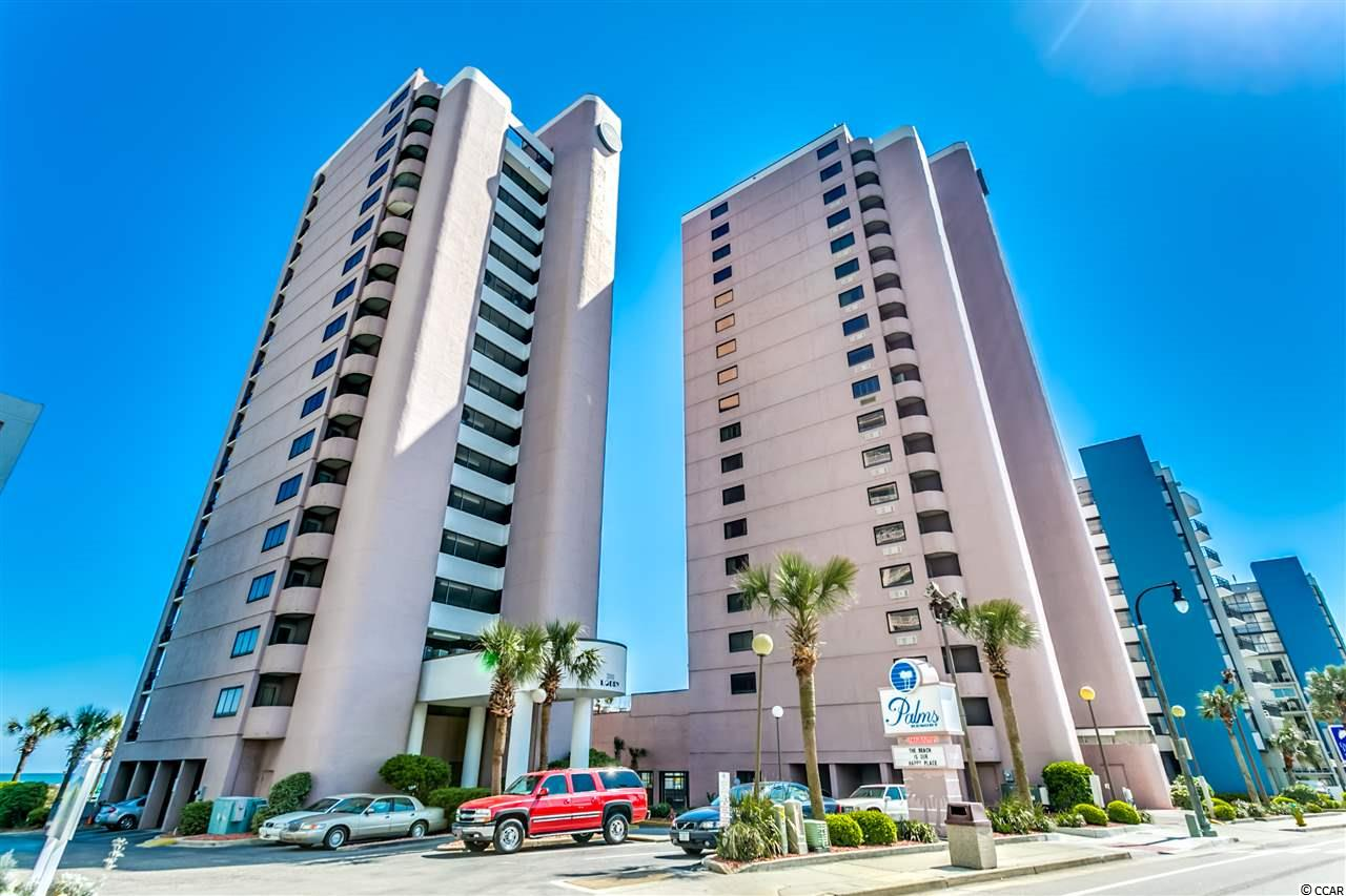 This direct Oceanfront END UNIT 1BR condo will give you the beach lifestyle you have been looking for! Enjoy morning coffee on the private balcony overlooking the beautiful Atlantic Ocean. The condo comes fully furnished so you can simply pack your bags and come to your new beach getaway or start renting it out ASAP.  The condo sleeps 4 as there is also a sleeper sofa. Owners completely renovated the unit including the following: Calcutta gold marble backsplash, stunning LVT flooring throughout, dove tailed solid wood cabinets in kitchen and bath, crown moldings, GE slate appliances, overhead fans, granite countertops in kitchen and baths, rear sliding door replaced in 2020, additional outlets installed, additional insulation installed, new furnishings and more!  Ask your agent for more details.  The end units in this building are larger than interior ones and offer windows on the side of the condo as well as a back porch. The Palms has an indoor pool and 2 indoor hot tubs as well as an outdoor pool and outdoor hot tub. There is also a fitness center and laundry room for your use. Owners are allowed to have pets but not renters. No motorcycles allowed on the property. There have been many recent renovations to this resort such as resurfacing of the pools, new secure slider entry doors, new security system, new exterior lighting, replaced elevators and exterior paint on the buildings. Make sure to check out the virtual tour link for a 3D immersive walk through of this beautiful oceanfront unit.
