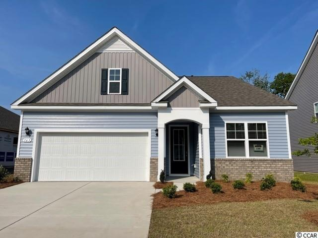 New phase now selling! Hidden Brooke is a beautiful community with an amenity that includes a pool with large deck area, clubhouse, exercise room, and fire pit overlooking the water. Minutes away from Highway 31 which provides quick and easy access to all of the Grand Strand's offerings: dining, entertainment, shopping, and golf! Tranquil setting just a short drive to the beach. This Acadia home features a beautiful exterior with brick accents and a tall entry door with glass. Open interior layout with 9 ft. ceilings and a great definition of space. The kitchen boasts a large pantry, granite countertops, white painted cabinetry, and stainless Whirlpool appliances. Conveniences like a tankless water heater, beautiful yet durable laminate wood flooring throughout the main living areas and bedrooms, and our industry leading smart home technology package are also included. This home will also offer a covered rear porch which is great for morning coffee.  *Photos are of a similar Acadia home.  (Home and community information, including pricing, included features, terms, availability and amenities, are subject to change prior to sale at any time without notice or obligation. Square footages are approximate. Pictures, photographs, colors, features, and sizes are for illustration purposes only and will vary from the homes as built. Equal housing opportunity builder.)
