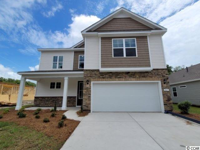 New phase now selling! Hidden Brooke is a beautiful community with an amenity that includes a pool with large deck area, clubhouse, exercise room, and fire pit overlooking the water. Minutes away from Highway 31 which provides quick and easy access to all of the Grand Strand's offerings: dining, entertainment, shopping, and golf! Tranquil setting just a short drive to the beach. This home has everything you are looking for! Our Belfort plan with a stacked stone elevation, 8 ft. entry door, and inviting front porch. Spacious kitchen with white painted cabinetry, granite countertops, a large island overlooking the family room, walk-in pantry, and stainless Whirlpool appliances. Beautiful laminate wood flooring throughout the main living areas with tile in the bathrooms and laundry room and sliding glass doors off the dining area lead to the rear screen porch creating a seamless transition from indoor to outdoor living. The first floor primary bedroom suite will feature an extended sitting room space and private bath with large shower, dual vanity, walk-in closet, and a separate linen closet for additional storage. Three nicely sized bedrooms and a versatile loft space are upstairs! It gets better- this is America's Smart Home! Ask an agent today about our industry leading smart home technology package that is included in all of our new homes.  *Photos are of a similar Belfort home. (Home and community information, including pricing, included features, terms, availability and amenities, are subject to change prior to sale at any time without notice or obligation. Square footages are approximate. Pictures, photographs, colors, features, and sizes are for illustration purposes only and will vary from the homes as built. Equal housing opportunity builder.)