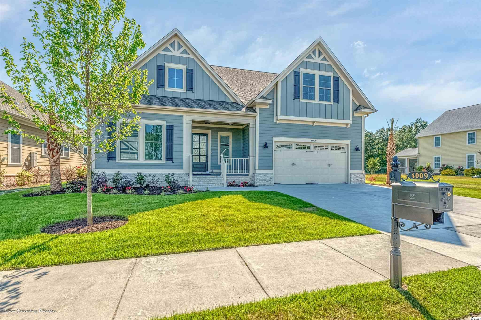 Awesome construction home in Waterway Palms Plantation. All the upmarket features today's home owners are looking for. The first floor offers an owners suite, guest suite, and office. Completion Date Mid May 2021. Custom built-ins, screen porch, massive bonus room, and many more features will want to make you call this HOME! Waterway Palms Plantation is a gated planned residential community located on the Intercostal Waterway (ICW). Situated inCarolina Forest Waterway Palms is perfectly located near shopping, grocery stores, and other daily goods and service vendors. Only a short 6-mile drive to the wide, friendly beaches, and the Atlantic Ocean Waterway Palms offers the best of both land and sea.