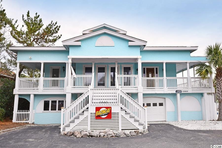 """35 weeks of GUARANTEED RENTAL INCOME for 2021 will convey with the property!  Turnkey """"business/beach rental"""" that has an established 4.8/5 star history 7 houses from beach access and 10 minutes by boat from ocean fishing and jet skiing!  Own a place to have family gatherings that will generate 10% rental income.  Enjoy the pool, hot tub 1 of 6 kayaks, or take one of the TWO golf carts to the beach.....everything is included including furnishings and 4 full size arcade games!  Entire contents conveys as an established 9 year rental.  This 6,000 sq ft rental sits on an oversized lot with a large detached shed, fenced yard, and well insulated for quiet time.  Recently renovated with new: pool liner, hot tub, boat lift motor, floors, paint, quartz countertop, appliances, AC units, roof, and MORE!  Ocean views, quiet area, and minutes to Marsh Walk.  Find out why we have constant 5 star reviews from our guests."""