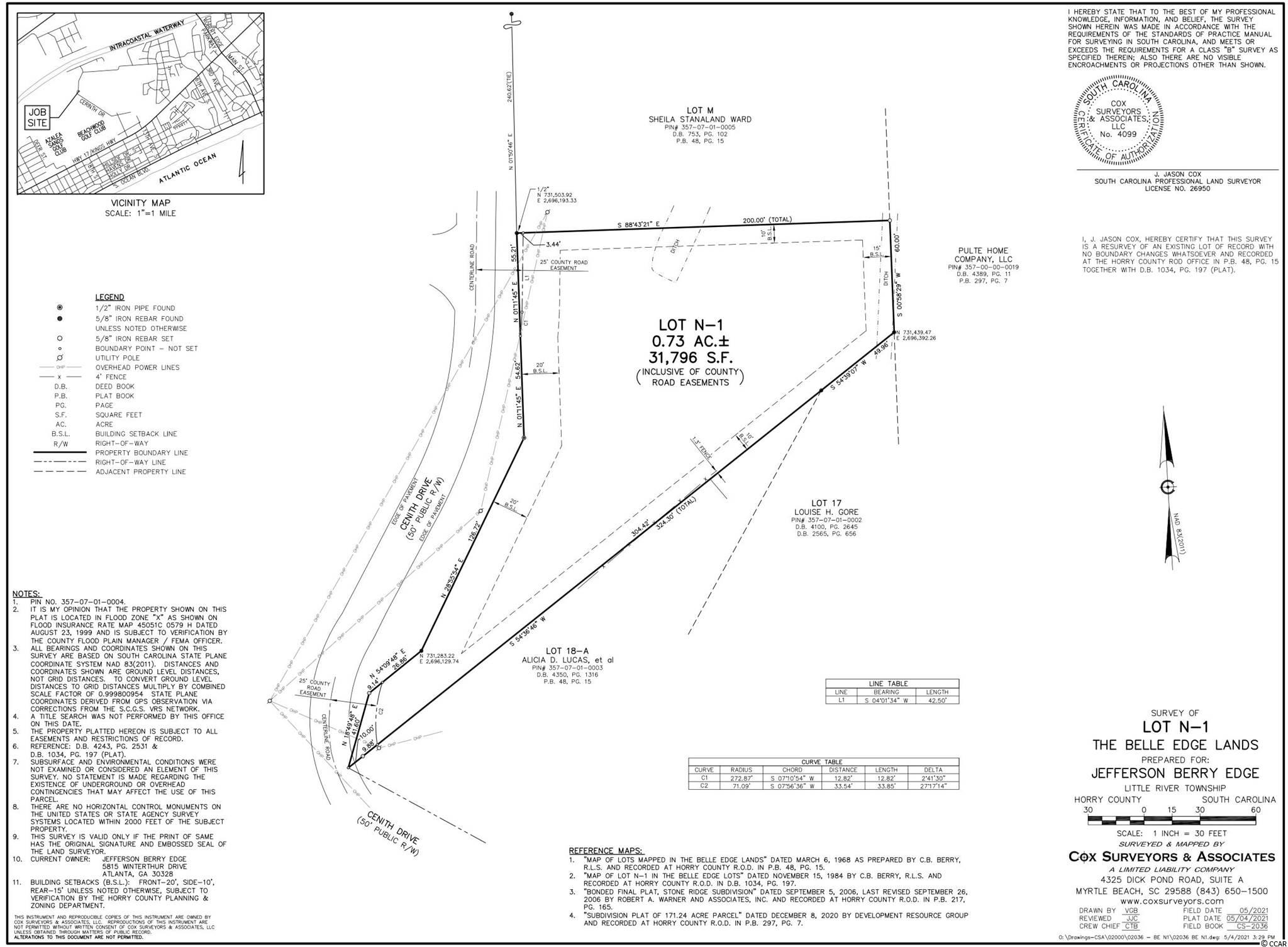 The One You've Been Waiting For! Take A Look At This Beautiful Residential Lot Zoned GR For A Single Family Home, Duplex or Multifamily! No HOA! Not In The City Limits! Pay County Taxes Until You Build! Ideal For A Quiet Country Setting So Close To Everything NMB has to offer! Located Between Hwy 17 and the Intracoastal Waterway! Call Today! Don't Miss This One!  Golf Cart Ride To The Beach, Pharmacy, Bank, Post Office, Church, City Hall, Aquatic Center, Shopping, Dining and Lots More! Super Convenient Location!