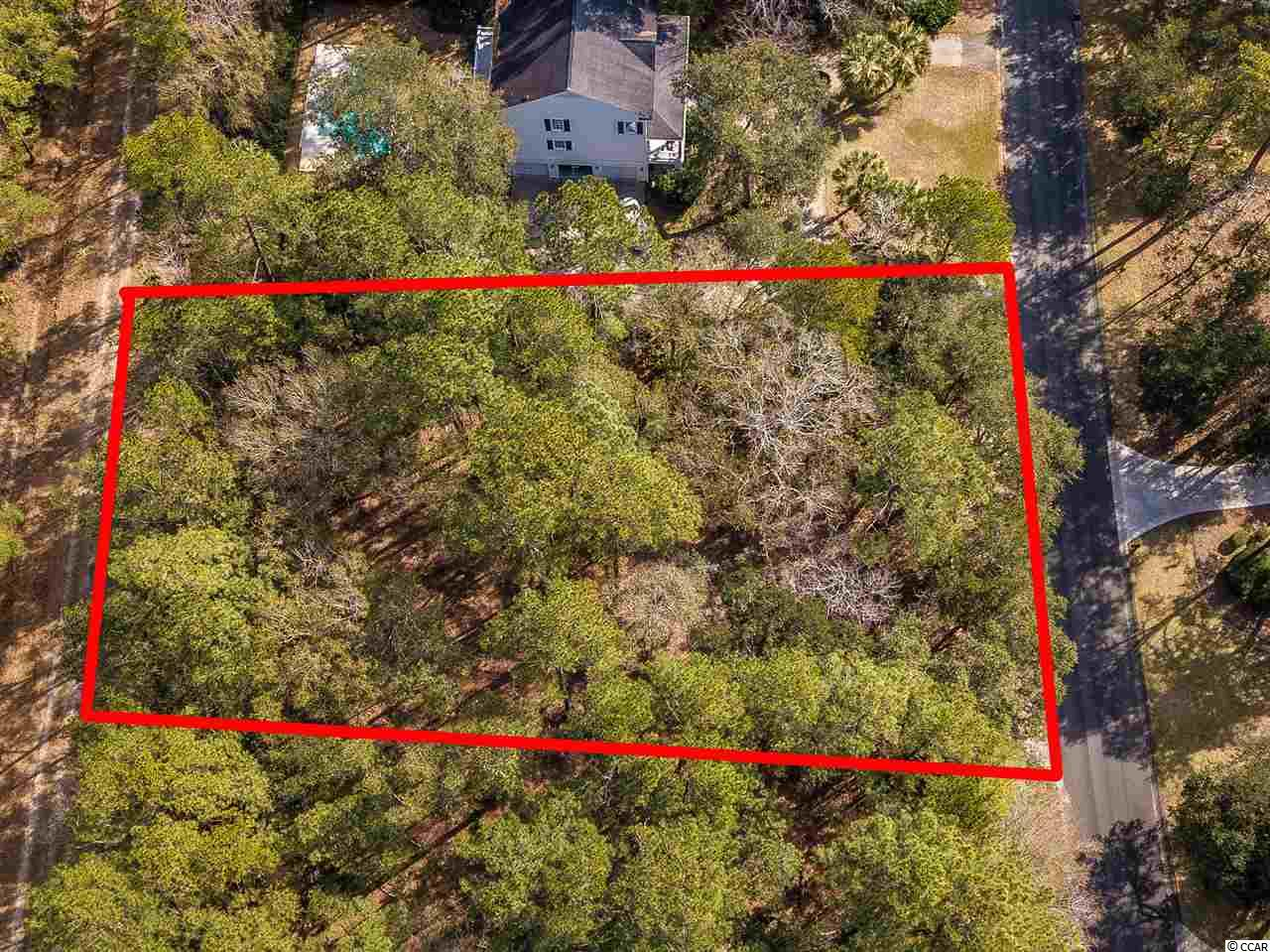 Multiple LIVE OAKS on a Beautiful wooded lot that backs up to the recently established Land Trust Conservation Easement. The lot has recently been cleared of underbrush to give you a good visual of the home site location. Great home site location. Close to all of the amenities in Debordieu, beach access (golf cart ride away) Tiki Bar, Golf Clubhouse, Tennis Courts, Fishing/crabbing sites throughout the entire development There are two outdoor pools one situated with beautiful views of the beach, many trails for convenient pathways for pedestrians, golf carts and bikers. Great location for a seaside village homesite. The lot is in X Flood Zone and is HIGH AND DRY LOT DIMENSIONS 143x229x223x121