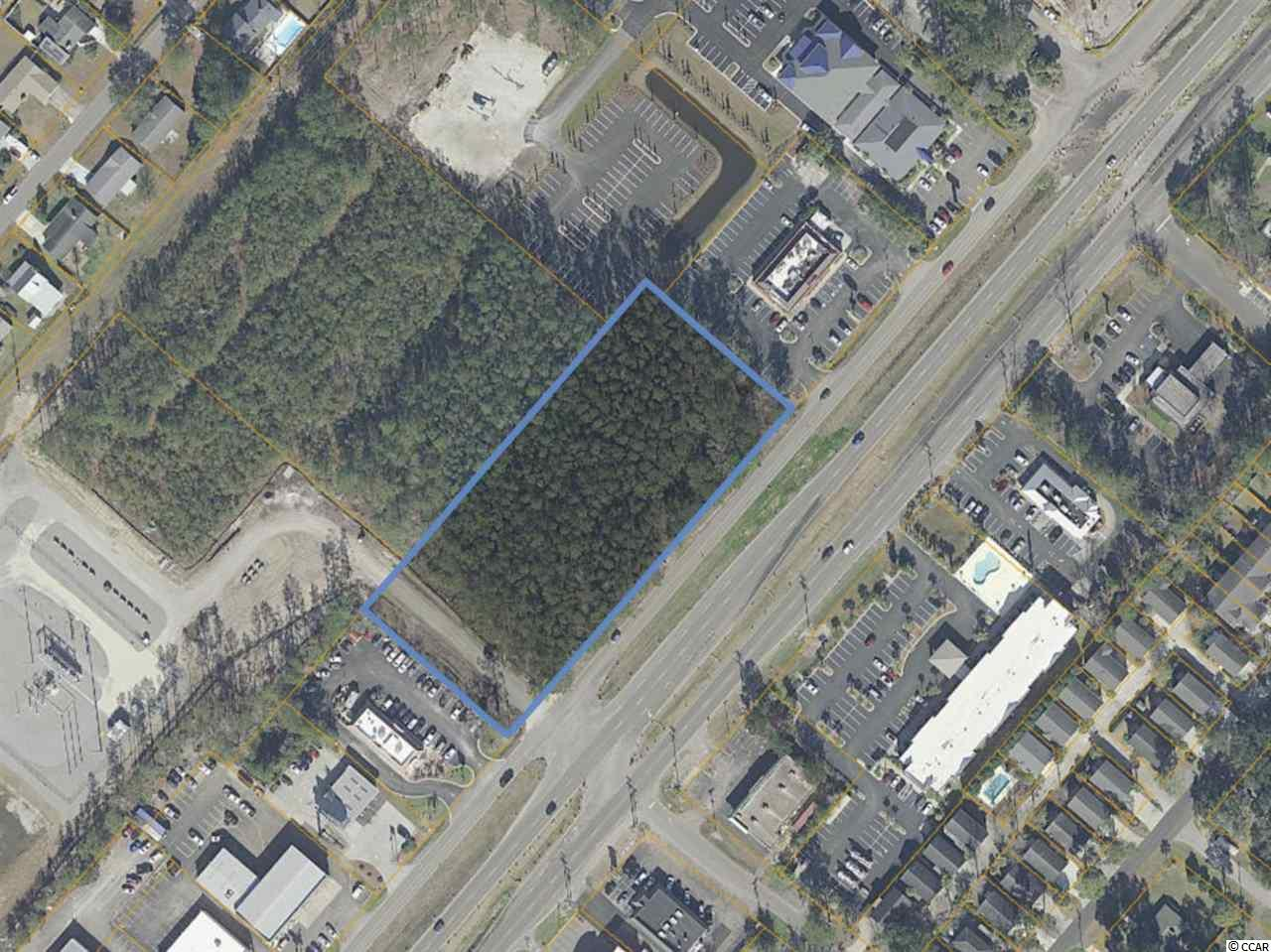Ground Lease opportunity for this busy Hwy 17 Business Surfside Beach parcel. The site has 2.59 acres of land with over 500 feet of Highway Frontage.   Daily Traffic Count is 31,700 ( Source SCDOT 2019).    Surrounding business include:  Johnny D's Breakfast Restaurant, The tasty Platter, Jiffy Lube, Bank of America, and in close proximity to the entrance to Plantation Resort.  Surfside Beach is a growing family beach town with numerous Family Campground.   Acreage is approximate and not guaranteed. Lessee is responsible for verification.