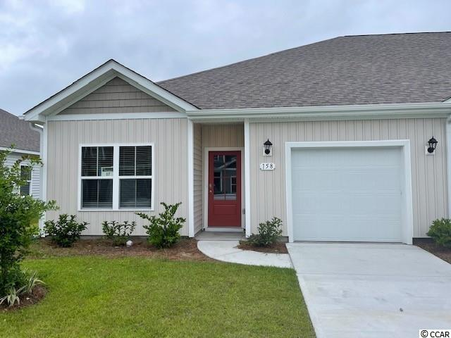 "Brand new community within walking distance to the Murrells Inlet Marsh Walk! Low maintenance living at its best with these single level townhomes. This Bentley floorplan is an end unit and boasts an open concept kitchen, living, and dining area along with three spacious bedrooms! Features include 36"" painted cabinetry, granite counters in the kitchen, stainless Whirlpool appliances, and laminate wood flooring that flows throughout the main living areas. The primary bedroom suite has a walk-in closet along with a private bathroom with dual vanity and large shower. Enjoy the beautiful coastal weather on the rear covered porch! 1-car garage with garage door opener plus a spacious storage closet off the rear porch. It gets better- this is America's Smart Home! Ask an agent today about our industry leading smart home technology package that is included in each of our homes.  *Photos include renderings of the Bentley floorplan. This home is under construction. (Home and community information, including pricing, included features, terms, availability and amenities, are subject to change prior to sale at any time without notice or obligation. Square footages are approximate. Pictures, photographs, colors, features, and sizes are for illustration purposes only and will vary from the homes as built. Equal housing opportunity builder.)"