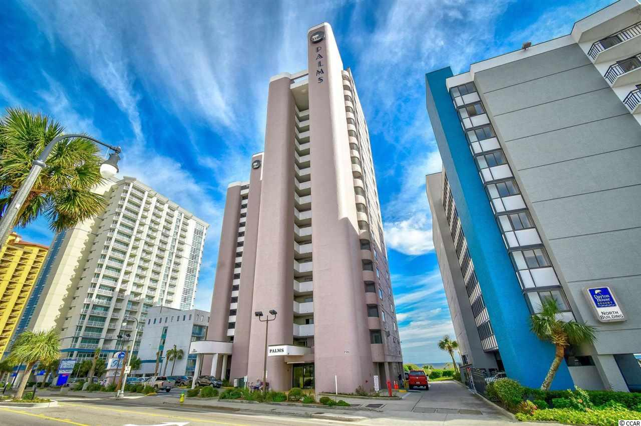 Fantastic opportunity to own a  1 bedroom 1 bathroom, direct ocean front unit At The Palms Resort.  Plenty of room with 2 queen size beds and a pull down murphy bed in the living room.  Enjoy your morning coffee or evening cocktail on the oceanfront balcony. The Palms Resort offers fantastic amenities including an indoor pool, outdoor pool, gym, hot tub, and kiddie pool. To top it off-you cannot beat this location! Close by you will find the Boardwalk, Sky wheel, Broadway at the Beach, Pelicans Field, shopping, golf, and more. Just a short drive to the mall and airport. This property would be an ideal second home, potential rental, or even primary residence.  Schedule your showing today.