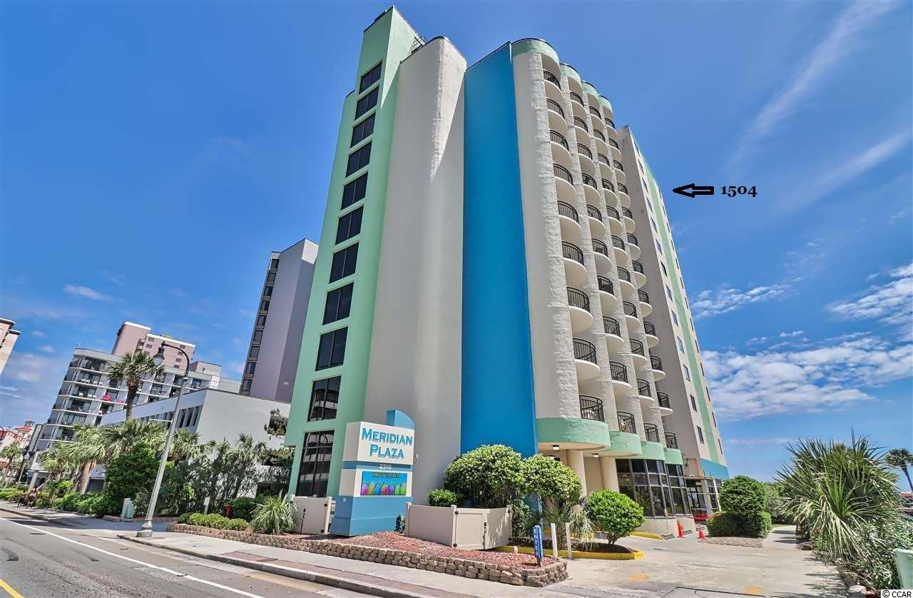 Great 1 bedroom oceanfront condo in the heart of Myrtle Beach. This is an end unit located on the 15th floor with outstanding oceanfront views as well as a southern view of the coastline. Onsite amenities include indoor & outdoor pools / whirlpools. Unit is fully furnished. Kitchen has a stove, fridge and dishwasher. Great to use as a 2nd home / beach retreat or rent it out.
