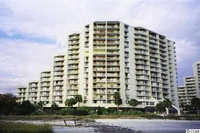 Amazing views from this 6th floor 2 BR/ 2 BA condo. Two balconies offer access to the outdoor living space from both bedrooms & the living area. Beautiful 57-acre resort on the ocean across from Barefoot Landing.  24-hour security, on-site tennis center, pools, beach club.  Lots of green space & beautiful live oaks.  Views of the ocean, beach & creek from every room.  All figs. & sq. ft. approximate.
