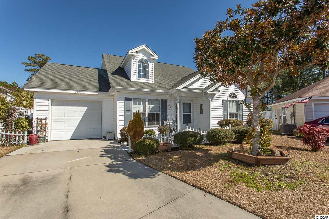 This inviting two-story home located in a quiet and safe neighborhood features a bright and open floor plan. As you enter the home you will be greeted with a vaulted ceiling in the Great Room giving the feeling of spaciousness. You will love the openness of this home along with the privacy of the first floor en suite master bedroom with its walk-in closet plus a soaking tub and separate shower. Plenty of storage with an attic above the garage and additional walk-in storage upstairs. The lot location is a huge bonus; with no traffic as it sits at the end of a cul-de-sac, with the backyard fenced in, providing security and privacy. This great location is in close proximity to award winning schools and all the attractions that the Grand Strand is known for: boating, fishing, dining, golf, and the beach!