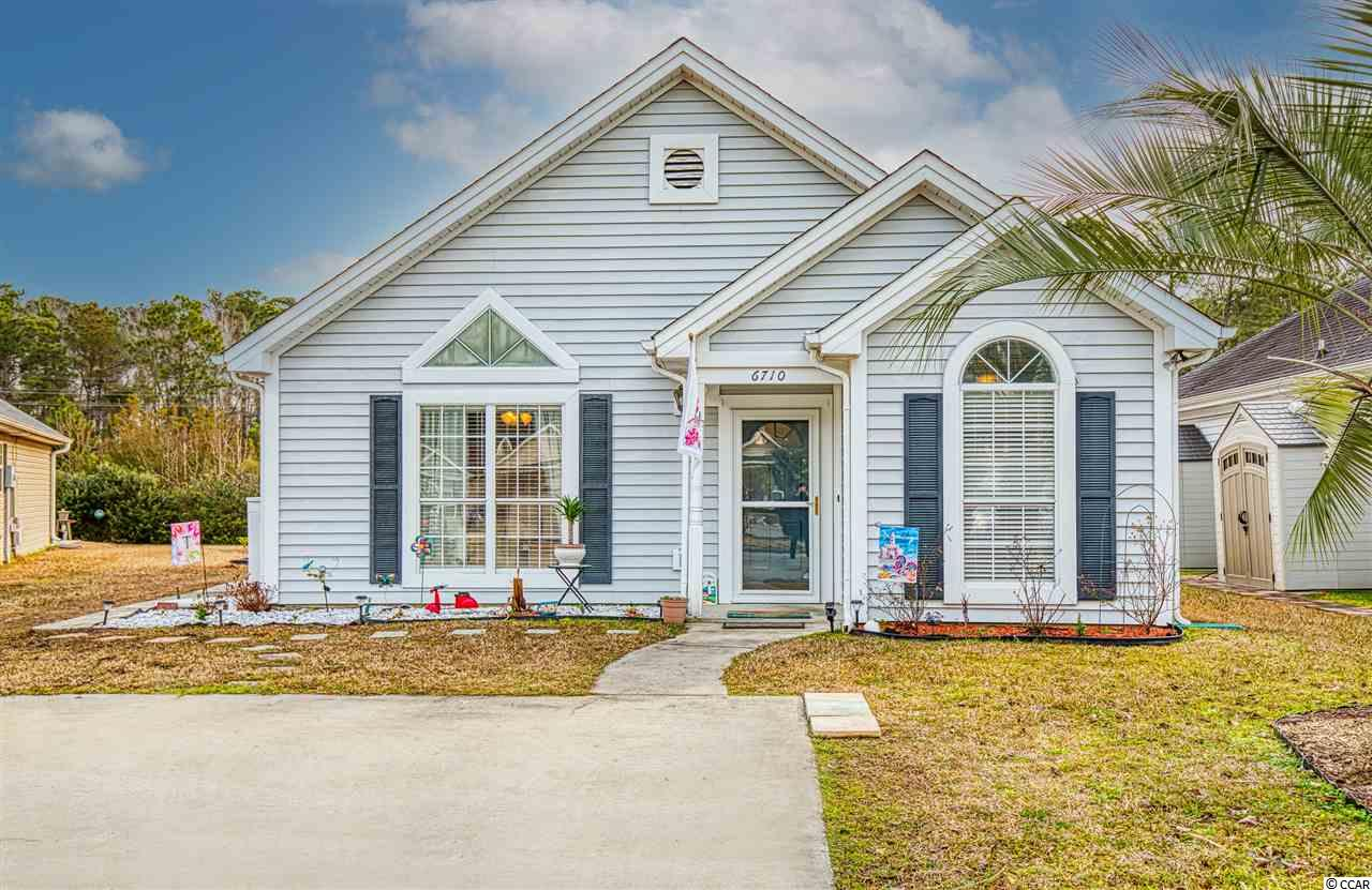 Come check out this cute, 2 bedroom 2 bathroom home all on one level in the gated community of Myrtle Beach Golf and Yacht. The master bedroom is spacious and even has access to the back porch. There's so much natural light in the living room area. The roof is from 2017 and the HVAC system is from 2018.  This property is just 7 miles to Surfside Beach and also a short drive to Market Common, the airport, shopping and so much more.  This community features many amenities including basketball courts, tennis courts, outdoor pool, RV and boat storage and 24 hour security.