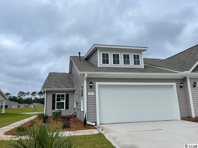 Heather Glen is a brand new natural gas community where homeowners will enjoy a large clubhouse with sprawling verandas, impressive swimming pool, conditioned fitness center, fenced dog park, playground area, and blueberry garden! This Tuscan floorplan offers a spacious, open layout all on a single level. With vaulted ceilings, tons of natural light throughout the living and dining areas, large kitchen island with breakfast bar, and spacious covered patio with pond views, this home is perfect for entertaining! The kitchen also features granite countertops, stainless Whirlpool appliances, white painted cabinetry, and a large pantry with ample storage. Roomy primary bedroom suite with walk-in closet and private bath with dual vanity and 5 ft. shower with glass door. This home also features laminate wood flooring in the main living areas, a tankless gas water heater, an additional concrete patio, and our industry leading smart home technology package. Yard and exterior maintenance are all covered! 4' black aluminum fencing is permitted (per HOA approval).  *Photos are of a similar Tuscan home. (Home and community information, including pricing, included features, terms, availability and amenities, are subject to change prior to sale at any time without notice or obligation. Square footages are approximate. Pictures, photographs, colors, features, and sizes are for illustration purposes only and will vary from the homes as built. Equal housing opportunity builder.)