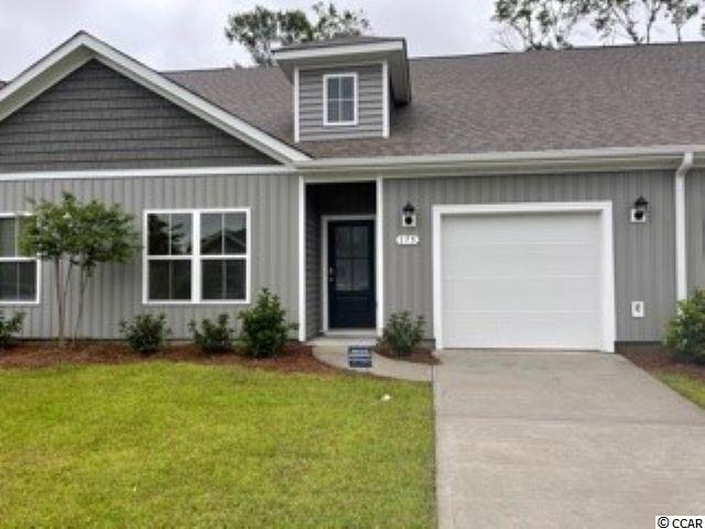 "Brand new community within walking distance to the Murrells Inlet Marsh Walk! Low maintenance living at its best with these single level townhomes. Our Bentley floorplan is masterfully designed with an open concept kitchen, living, and dining area that is perfect for guests visiting you at the beach! Features include 36"" painted cabinetry, granite counters in the kitchen, stainless Whirlpool appliances, and laminate wood flooring that flows throughout the main living areas. This home also boasts a versatile flex space with French doors that would make a great formal dining room or home office. The primary bedroom suite is tucked away at the back of the home with a walk-in closet along with a private bathroom with dual vanity and large shower. Enjoy the beautiful coastal weather on the rear screened porch with pond views! One-car garage with garage door opener plus a spacious storage closet off the rear porch. It gets better- this is America's Smart Home! Ask an agent today about our industry leading smart home technology package that is included in each of our homes.  *Photos are of a similar Bentley home. This home is under construction. (Home and community information, including pricing, included features, terms, availability and amenities, are subject to change prior to sale at any time without notice or obligation. Square footages are approximate. Pictures, photographs, colors, features, and sizes are for illustration purposes only and will vary from the homes as built. Equal housing opportunity builder.)"