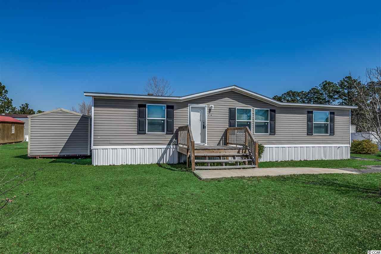 If you want to be conveniently located to the attractions that the beach has to offer, while being able to relax in historic downtown Conway, this is it! Welcome to this beautiful 3 bedroom/ 2 bath 2017 manufactured home! This home is located in the Conway Plantation community and boasts an open concept floor plan and has been upgraded to be handicap accessible. There is also a new detached shed on the side yard for added storage. Conway Plantation offers amenities including a pool and clubhouse. Schedule your showing today!
