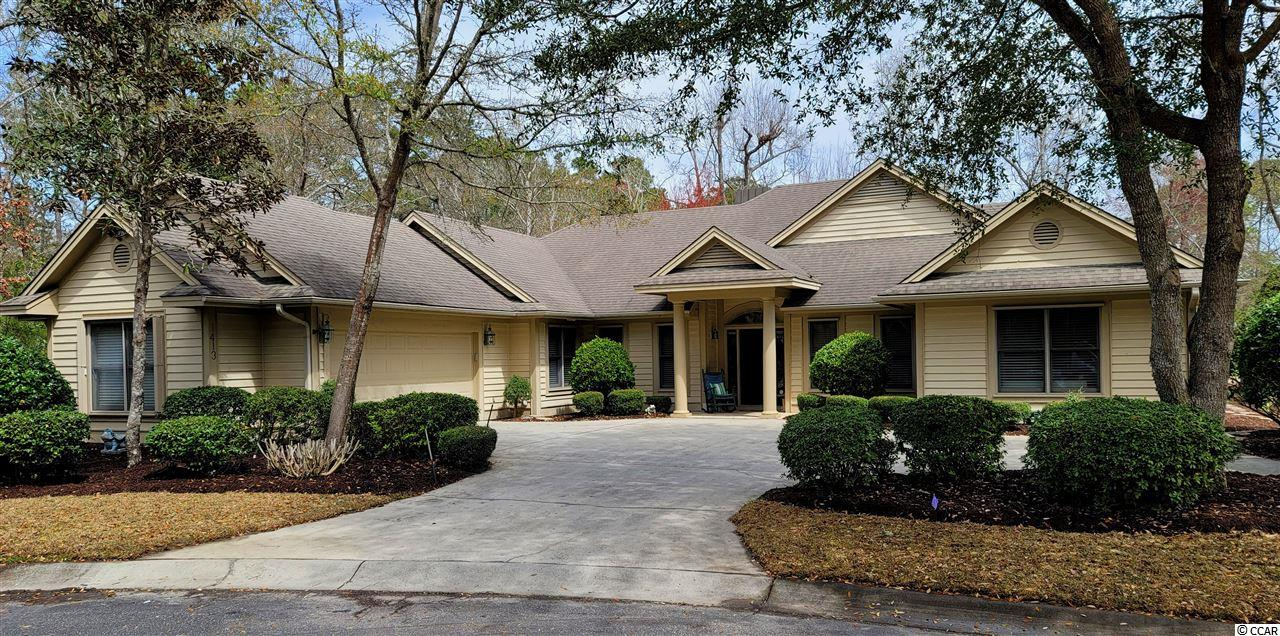 This home is well-loved, and its incomparable secluded spot in the Plantation of Tidewater Resort is singular, spacious, unique and on the golf course, too!  Location, location, location! This wonderful lot is at the end of a lovely wooded cul-de-sac, nestled in the right corner with no one even close on the right-hand side and around the semicircle to the left, the ultimate in privacy and peacful surroundings. These original owners hand-picked it for seclusion, natural beauty and preferred golf-course view to build a wonderful custom home -- the best of all worlds, and, of course, it is in Tidewater. The street ends in that quiet cul-de-sac with virtually no vehicle traffic. What it does have, in addition, is space, for play, bike-riding, walking and more. Whether you have children and grand children or you are young at heart, this open area and natural enclave is appealing. So bring your imagination to envision what singular plans you might have to make this fabulous, rare property your own. Personality welcome. Amenity-rich Tidewater is on a tree-lined road to oceanfront Anne Tilghman Boyce Coastal Reserve, a nature conservancy, including Waties Island, with access for managed recreational use. Tidewater itself is on an elevated peninsula of live oaks and southern pines between the ICW and the Cherry Grove Inlet to the Atlantic Ocean. The Plantation also preserves the singular look of its own historic origins. It is minutes from the beach, shopping, dining, medical services, parks, entertainment and access to major highways. Amenities include an oceanfront beach cabana for owners' use with open/screened porches, bathrooms, showers, and kitchen. The cabana is located on the wide, white-sand of Cherry Grove Beach, awarded 11th Best Beach in the Nation in 2019! Residents enjoy the use of several pools/hot tubs. Other amenities include a driving range, golf shop, clubhouse with bar/dining and event facilities, clay and hard surface tennis courts, pickle ball court, f