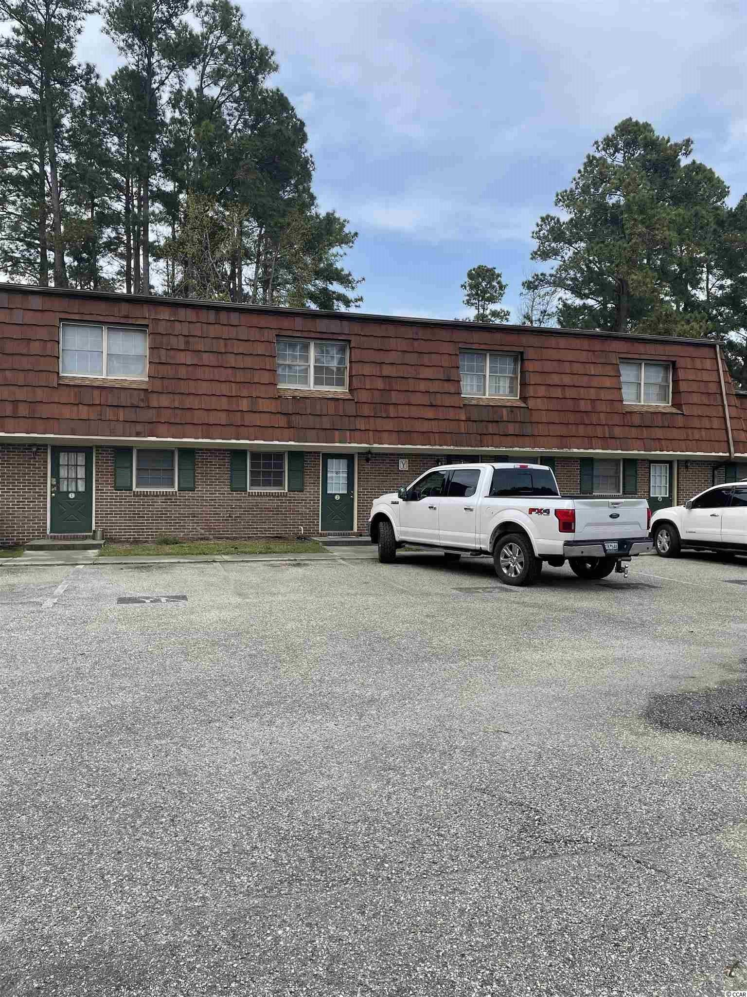 Townhouse located with in walking distance of Coastal Carolina University. @ bedroom 1 full bath 1 half bath. Vinyl tile floors, laundry area in the villa, extra storage,...... great location! Square footage is approximate and not guaranteed. Buyers responsible for verification.