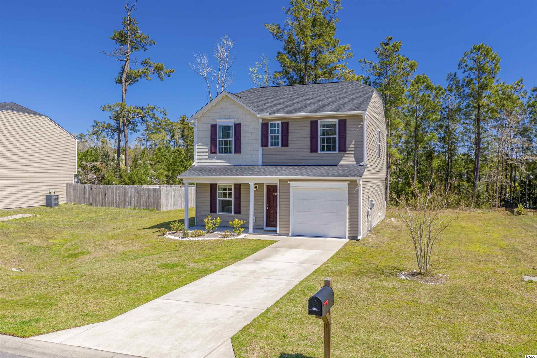 NO HOA!!! Located between North Village and Carolina Crossing subdivisions, this is one of five lots with no HOA! Built in 2018, this 3 bedroom/2 1/2 bath home features upgraded appliances with a gas range, large lot and 2nd floor oversized master bedroom with vaulted ceilings. Minutes to Cherry Grove Beach!!