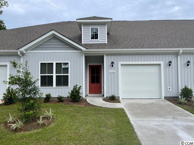 Brand new community within walking distance to the Murrells Inlet Marsh Walk! Low maintenance living at its best with these single level townhomes. Our Bentley floorplan is masterfully designed with an open concept kitchen, living, and dining area that is perfect for guests visiting you at the beach! Features include modern gray painted cabinetry, granite counters in the kitchen, stainless Whirlpool appliances, and laminate wood flooring that flows throughout the main living areas. This home also boasts a versatile flex space with French doors that would make a great formal dining room or home office. The primary bedroom suite is tucked away at the back of the home with a walk-in closet along with a private bathroom with dual vanity and large shower. Enjoy the beautiful coastal weather on the rear covered porch! One-car garage with garage door opener plus a spacious storage closet off the rear porch. It gets better- this is America's Smart Home! Ask an agent today about our industry leading smart home technology package that is included in each of our homes.  (Home and community information, including pricing, included features, terms, availability and amenities, are subject to change prior to sale at any time without notice or obligation. Square footages are approximate. Pictures, photographs, colors, features, and sizes are for illustration purposes only and will vary from the homes as built. Equal housing opportunity builder.)
