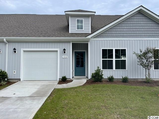 "Brand new community within walking distance to the Murrells Inlet Marsh Walk! Low maintenance living at its best with these single level townhomes. Our Bentley floorplan is masterfully designed with an open concept kitchen, living, and dining area that is perfect for guests visiting you at the beach! Features include 36"" white painted cabinetry, granite counters in the kitchen, a large island with breakfast bar, stainless Whirlpool appliances, and laminate wood flooring that flows throughout the main living areas. This home also boasts a versatile flex space that would make a great formal dining room or home office. The primary bedroom suite is tucked away at the back of the home with a walk-in closet along with a private bathroom with dual vanity and large shower. Enjoy the beautiful coastal weather on the rear covered porch! One-car garage with garage door opener plus a spacious storage closet off the rear porch. It gets better- this is America's Smart Home! Ask an agent today about our industry leading smart home technology package that is included in each of our homes.  *Photos are of a similar Bentley home. This home is under construction. (Home and community information, including pricing, included features, terms, availability and amenities, are subject to change prior to sale at any time without notice or obligation. Square footages are approximate. Pictures, photographs, colors, features, and sizes are for illustration purposes only and will vary from the homes as built. Equal housing opportunity builder.)"