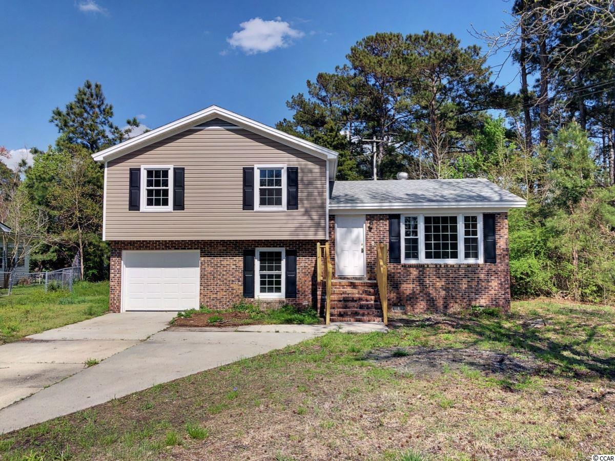 Don't miss this newly renovated, split level home!  This home is conveniently situated near HWY 501 for easy access to downtown Myrtle Beach, Carolina Forest, or Conway and is located within the Forestbrook Elementary, Forestbrook Middle, and Socastee High school districts. This home offers three bedrooms and two bathrooms on the upper level, the living room and kitchen on the main floor, and a bonus room, half bath (with laundry), and one car garage on the first floor. This home is being sold as-is. Call your agent to schedule a showing today!