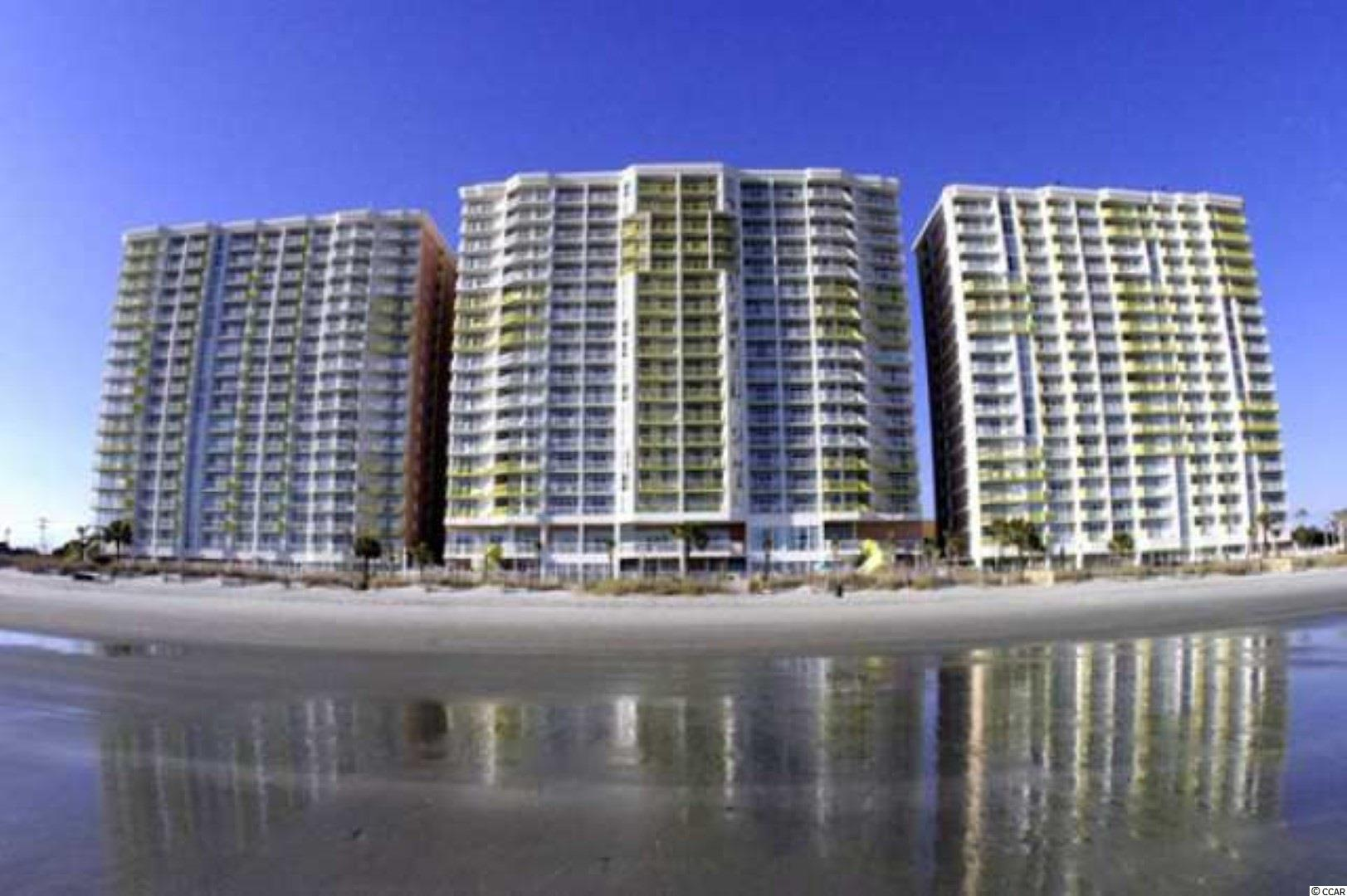 This is a lovely oceanfront 2 bedrooms 2 bath end unit in the highly sought-after oceanfront beach resort in North Myrtle Beach.  Baywatch Resort offers a unique experience for an unforgettable beach vacation.  Bay Watch Resort provides guests onsite amenities with beautiful views of North Myrtle Beach's expansive oceanfront. Their extensive amenities and services include indoor and outdoor water features, on-site restaurants, spacious, fully-furnished rooms, and seasonal entertainment. This is a year-round resort due to its indoor amenities that offer a unique experience even in the cooler months.  There are two restaurants, an inside bar, and a seasonal poolside tiki bar.  This location allows the homeowner or vacationer quick access to the other area attractions such as Barefoot Landing, Alabama Theatre, House of Blues, shopping, dining, and much more.  So if you are looking for that top-of-the-line oceanfront property look no further.  Make an appointment to see this unit today as in the market it will not last long! Square footage is approximate and not guaranteed. Buyers responsible for verification.