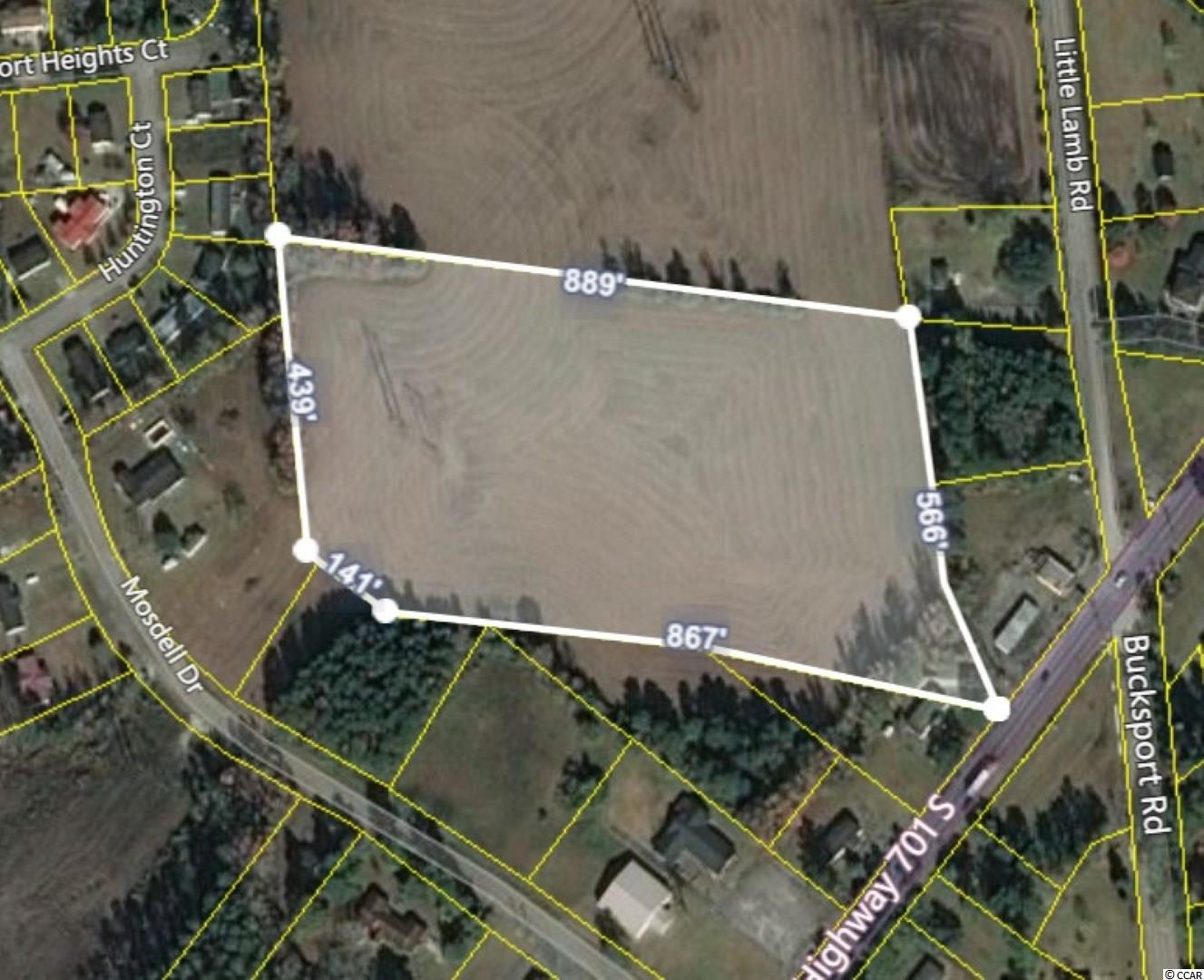 Here is an opportunity to purchase 10.5 Acres of cleared and ready to develop land in an area that is fast becoming the next big thing. Located with access from Highway 701 and across the street from Bucksport Rd which leads to the riverfront and Bucksport Marina, this property is zoned to generate nearly any type of revenue generating business venture. This a don't wait and don't hesitate situation.