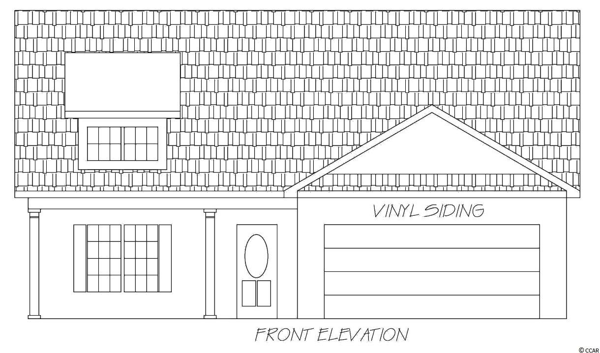 """This home is to be built. The Pine floor plan incorporates an outstanding list of included features in a very competitively priced new home. Open floor plan, kitchen with stainless steel appliances, breakfast counter, pantry closet, dining area, a large living room with a vaulted ceiling and fan. The large master bedroom has a tray ceiling, ceiling fan and walk-in closet. The master bath has a double bowl vanity and shower. Spacious front porch and a rear screened porch and patio. Smooth ceilings, 30 year architectural roof shingles, gutters, and sodded yard. Fully finished and painted garages with automatic door opener and pull down stairs to attic storage. Interior trims includes 3 1/4"""" casings and 5 1/4"""" baseboards. Low E glass windows, energy efficient homes. Other floor plans are available. Easy access to both Myrtle Beach and Conway. Photos are for illustrative purposes only and may be of similar house built elsewhere. Square footage is approximate and not guaranteed. Buyer is responsible for verification."""