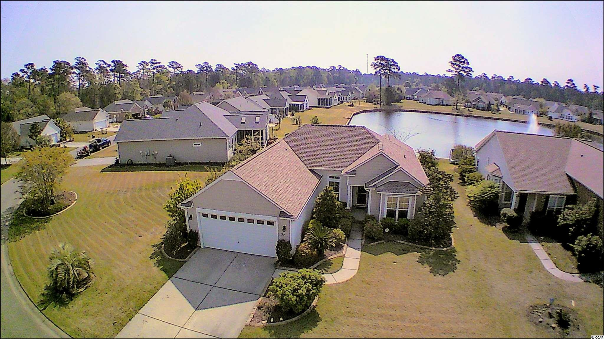 Waterview Lot with Large Side Yard for Hosting BBQ with Family and Friends. Enjoy Sitting in the Sun Room or on the outdoor patio and Watch the Water Birds Play on Your Large Pond. 3 Bedroom 2 Bath One Level House Located in Linksbrook Community. Barrington Floor Plan with Vaulted Ceilings in Living Areas. Laundry Room. Carolina Room. Sun Room has Portable HVAC, Collapsible-Screened Windows for Full View of Outdoors. The entire House has Rain Soft Water Softener. Kitchen Sink has Reverse Osmosis Filtration System for Drinking Water. Mancave Delight with Separate Full HVAC in Garage, Storage Galore, Shelves, Tool Cabinets, and New Garage Door Motor 2019. Hurricane Shutters. 3M Film on Windows for Extra Efficiency. Irrigation System. Security System. Full House Home Team Pest Defense. House HVAC Replaced 2019, New Roof 2019. New Water Heater 2019. Large Community Clubhouse includes a Full Kitchen, Entertaining Area, and Fitness Center. Large Pool, Tennis Court, and Picnic Pavilion including Grills. Just Down the Road is Boating, Fishing, Marshwalk, Dining, Entertainment, Shopping, and Golf Courses.