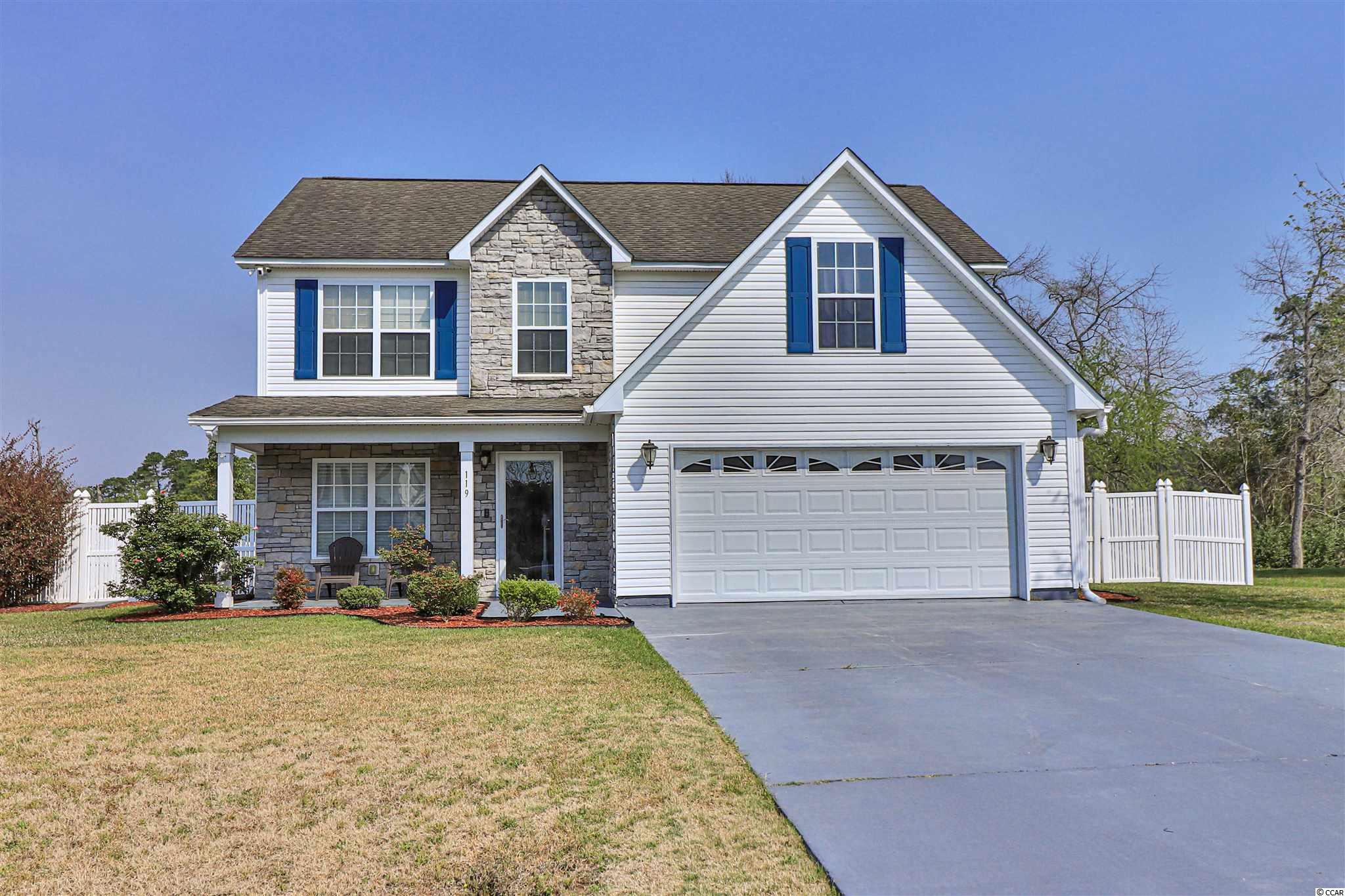 Don't miss out on this incredible opportunity! This stunning 4 bedroom, 3 full bathroom family home is located in the prestigious golf course community of Shaftesbury Green and features a bright and spacious floor plan! The country kitchen features beautiful white cabinetry, custom tile backsplash, granite countertops, and walk-in pantry plus a formal dining room! The comfortable living room features a warm fireplace and gleaming floors! The elegant master suite boasts a private bonus room/office and an impressive master bathroom! You will enjoy the custom back porch and fire pit perfect for grilling out and entertaining! Being in the spectacular neighborhood of Shaftesbury Green, you have access to Shaftesbury Glen Golf Course and Fish Club, the club house, and a large community pool with gorgeous Waccamaw River views! Book your showing today!