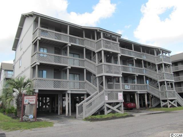 FURNISHED 1 BR 1 BA second row beach condo located in Shipwatch Pointe I - GREATLOCATION - just off Shore Dr, One of only units that has ocean view as well as view over looking pool from your furnished balcony. Walk down your steps to flip flops, store, ice cream pizza, or take a quick walk to Ocean Annies & enjoy the music and bar or River City Cafe. Unit has been upgraded and decorated very nicely with tile flooring in bath and kitchen. Bedroom and LR has wall mounted flat screen TV's.  Almost new stackable washer/dryer in hallway closet. Hall and LR has new laminate wood floors. Kitchen has large breakfast bar. Refrigerator and dishwasher replaced in 2016. Large living room has brand new queen sleeper sofa as well as another sofa for extra seating. Sliding door leads to covered balcony overlooking the pool, already furnished with outdoor furniture for you to enjoy! Unit has upgraded light fixtures, furniture, beach accents, new beach quilt & accent pillows for the bedroom. You also have an owners closet in corner of LR for storage for your beach toys. Perfect secondary vacation/investment unit to rent short term right there on the golden mile in the perfect location!!  Again, one of only units with ocean view!  2nd floor unit has been well maintained and you don't even have to move your car! Affordable and awesome location! Won't last long!
