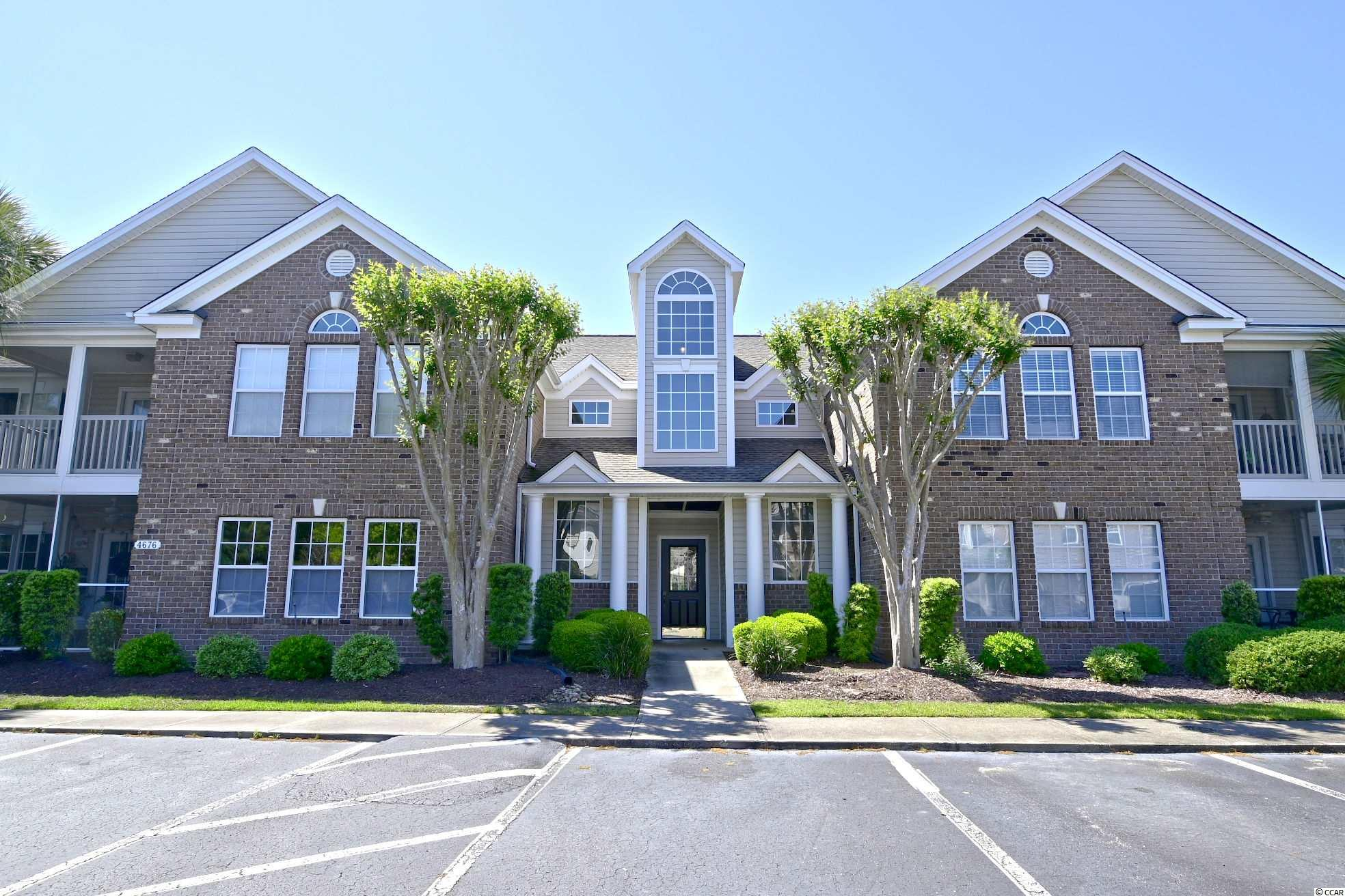 This 3 bedroom and 2 bath condo is located in a gated golf course community.  Always a second home and never rented, this meticulously maintained home overlooks the 4th tee box of the awarding winning Wachesaw Plantation East golf course and just steps away from the pool! Spacious living room offers an abundance of natural light & the cathedral ceiling adds to the airy, open feel.  Brand new carpet throughout! Enjoy the  golf course views and a private screen porch surrounded by palm trees! The kitchen has upgraded maple cabinets w/ slide out lower shelves plus a walk-in pantry, new microwave oven and upgraded faucet.  Owners had new HVAC & water heater installed 2018. Utility room with full sized washer & dryer.  Community amenities include 24/7 security, gated access, two pools, tennis courts, walking/biking trails, and a fitness room.  One of the pools is reserved for the exclusive use of the Winchester condo residents and their guests.   Located in Murrells Inlet, this community is just about a mile from restaurant row, the MarshWalk, Brookgreen Gardens, the pristine, natural beach at Huntington Beach Sate Park, N Litchfield and Garden City Beach. Extensive medical facilities including Tideland Hospital are just outside the front gate.  Don't wait - Your LowCountry Lifestyle is beckoning!  (Square footage is approximate and not guaranteed.  Buyer is responsible for verification.)