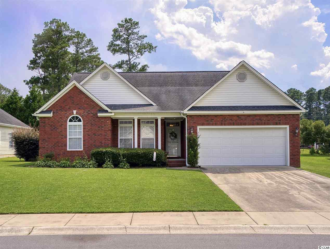 This traditional brick front home is in the quiet neighborhood of Magnolia Bay minutes from downtown Conway. You will be impressed the moment you enter the neighborhood. There are sidewalks in the community to ensure you and your family's safety while you are out strolling through the community. Upon entering the home, you will be greeted by a cathedral ceiling in the spacious living room. There are 3 bedrooms and 3 full bathrooms with a split floor plan which allows for extra privacy. One of the guest bedrooms would make a great in-law suite as it has its own bathroom. You will find many upgrades throughout the home. There is tile flooring in the bathrooms and kitchen, and wood flooring in the living and formal dining area. A screened porch, a gas fireplace, a fenced backyard, doubled garage and a deck for entertaining.