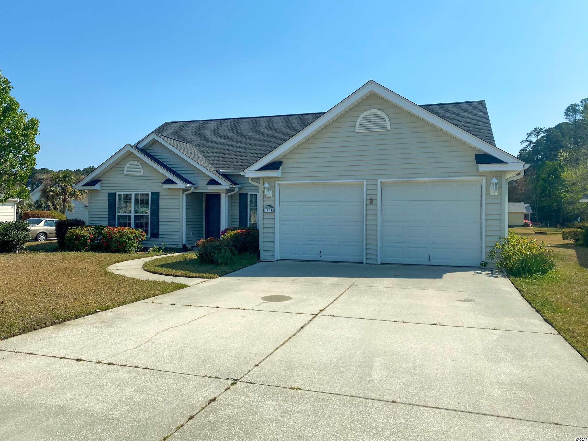 Beautiful and spacious Murrells Inlet home positioned on a large corner lot! Enjoy a wonderful community that's just minutes away from the Marsh-walk, beaches, hospitals, schools and shopping! ALL appliances will convey. HOA dues paid until January 2022! HOA includes a community pool, trash pickup, maintenance of common areas and basic internet/cable through Spectrum. Home has a brand new roof (replaced summer of 2020), HVAC replaced in 2015, newly tiled kitchen and breakfast area, shelving installed in the temperature controlled attic and a two car garage equipped with pegboard/shelving and a workbench. Metal hurricane shutters are fitted for all windows. Motivated Seller! Bring all offers!