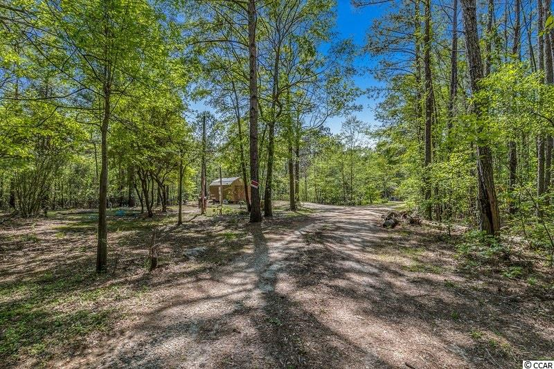 Live the country lifestyle  just outside of Conway.  Not far from International Dr. and the beach.  4.5 acres of buildable land.  Home site already in place.  RV Hookup and carport go with the land.  Quiet life, no traffic at the end of the road.