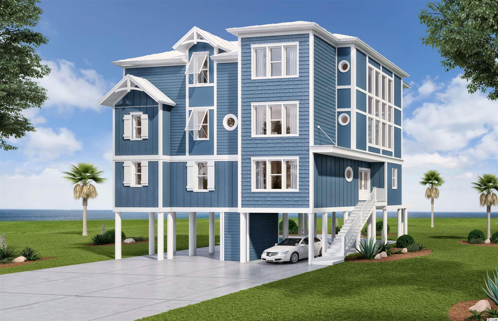 Custom designed and built direct oceanfront home under construction in Surfside Beach to be completed for summer 2022 season. Only the fifth oceanfront home built in Surfside in the last 15 years and one look at the plans and the front rendering of the house will demonstrate that this house will be truly special. 45' wide home on this oversized Surfside lot will allow for spectacular views from most every room and each of the three tiers of covered porches. With 8 bedrooms including 2 large bunkrooms this home will sleep 26 comfortably and the oversized kitchen and 3 common areas will give everyone a chance to spread out and enjoy the home. The outside pool area will include both a hot tub and a tanning shelf while the home also includes an elevator and has been engineered to the latest wind load standards including impact glass and metal roof for hurricane protection. To many other fit and finish options to detail so contact your agent for more info!